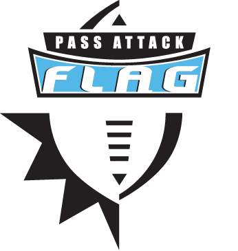 Pass Attack Flag Football Logo